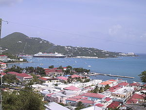 Danish West Indies - View over Charlotte Amalie
