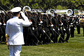 US Navy 070521-N-0696M-105 Chief of Naval Operations (CNO) Adm. Mike Mullen is a reviewing official at the 2007 Dedication Parade at the United States Naval Academy.jpg