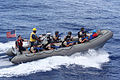 US Navy 090915-N-1938G-024 A U.S. Navy boarding team from the guided-missile frigate USS Doyle (FFG 39) approaches a suspicious vessel during a simulated Maritime Interdiction Operation in the Caribbean Sea.jpg