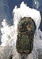 US Navy 100323-N-9950J-099 An amphibious assault vehicle assigned to the 31st Marine Expeditionary Unit (31st MEU) debarks the well deck of the forward-deployed amphibious assault ship USS Essex (LHD 2).jpg