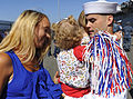 US Navy 110804-N-KS651-368 A Sailor reunites with his family after returning from a five-month deployment aboard the amphibious transport dock ship.jpg