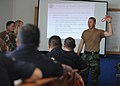 US Navy 110809-N-NY820-078 Master-at-Arms 3rd Class Adolfo Ruiz-Rodriguez and other Sailors participate in a subject matter expert exchange with lo.jpg