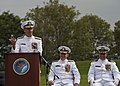 US Navy 110930-N-KK576-104 Chief of Naval Operations (CNO) Adm. Jonathan W. Greenert delivers remarks during a change of command ceremony at Fort M.jpg