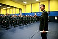 US Navy 111025-N-YM440-203 Assistant. Secretary of the Navy Juan Garcia gives a thumbs up after speaking to students at the Master-at-Arms school a.jpg