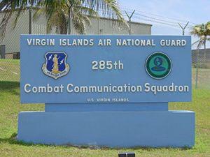 Virgin Islands Air National Guard - Image: US Virgin Islands ANG 285th CCS entrance sign