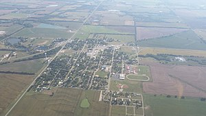 Udall, Kansas - Aerial photograph of Udall (2015)