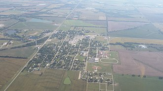 Udall, Kansas - Aerial photograph of Udall in 2015