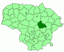 Location o Ukmergė destrict municipality