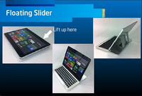 Ultrabook floating slider design