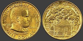 Ulysses S. Grant One Dollar Gold Piece, 1922 issue.JPG