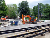 Umbau der Werthmannstraße und des Platzes der Universität in Freiburg für die Stadtbahn.jpg