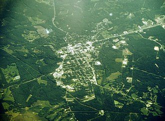 Union Springs, Alabama - Aerial view of Union Springs
