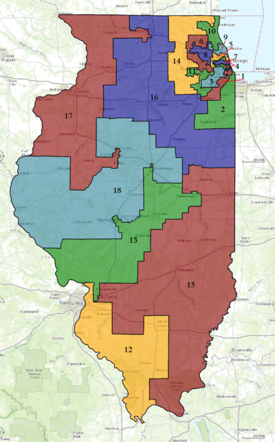 United States Congressional Districts in Illinois, since 2013.tif
