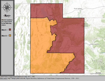 Utahs Congressional Districts Wikipedia - Us 2011 congressional district map
