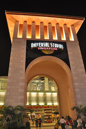 Universal Studios Singapore - USS Entrance Archway