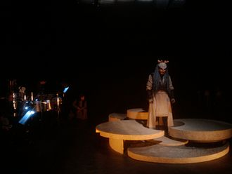 'u' - Scene from the premiere of 'u', 10 September 2010 performed at the Zeebelt Theater in The Hague.