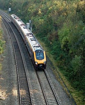 Harbury - A CrossCountry Voyager train in Harbury cutting