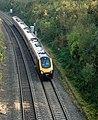 Up (eastbound) 'Voyager' train in Harbury railway cutting - geograph.org.uk - 1550598.jpg