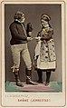 Världsutställningen i Wien 1873. Man och kvinna i folkdräkter från Järrestad, Skåne - Nordiska Museet - NMA.0039768.jpg