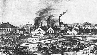 Vítkovice (Ostrava) - Vítkovice steel mill, mid 19th century