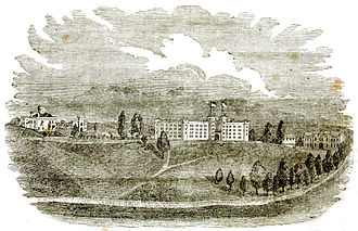 Virginia Military Institute - Engraving of VMI ca. 1863