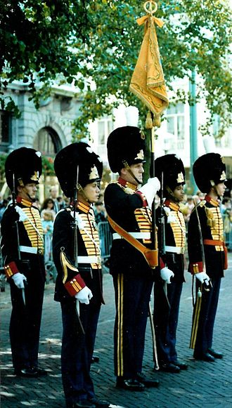 Grenadiers' and Rifles Guard Regiment - The standard of the Garderegiment Grenadiers in 1992