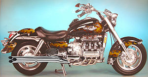 caption= Honda Valkyrie with custom paint and after-market 6 to 6 exhaust