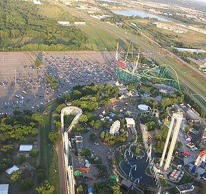 Valleyfair - Image: Valleyfair aerial view (cropped)
