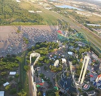 Valleyfair - Image: Valleyfair aerial view (cropped)