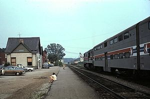 Calumet (train) - The Calumet and Indiana Connection at Valparaiso in 1980