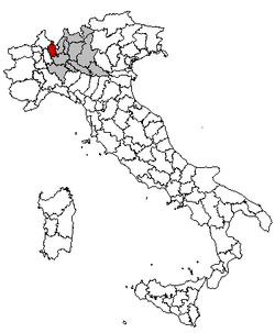 Location of Province of Varese