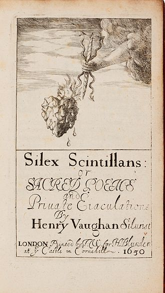 Metaphysical poets - The title page of Henry Vaughan's Silex Scintillans, 1650