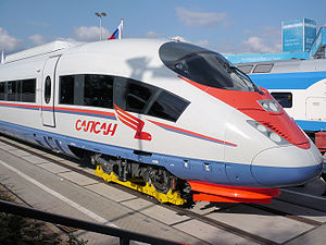 Russian Velaro high speed passenger train (a f...