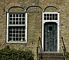 venster en deur van oude boerderij