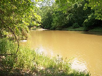 Vermilion River (Ohio) - The Vermilion River at the community of Birmingham in Erie County