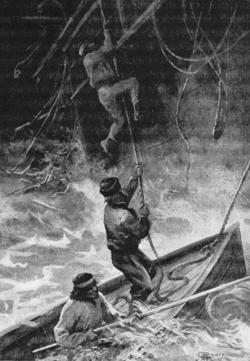 Verne - Les Naufragés du Jonathan, Hetzel, 1909, Ill. page 50
