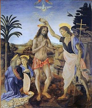 The Baptism of Christ (Verrocchio and Leonardo) image