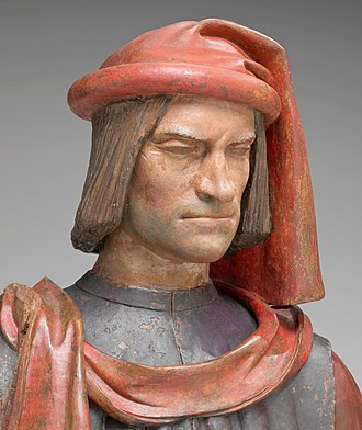 Lorenzo de' Medici - Bust by Verrocchio, 15th- or 16th-century terracotta bust, National Gallery of Art, Washington