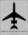 Vickers Super VC.10 with RB.211 engines top-view silhouette.png
