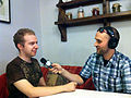 Victor Grigas interviewing User Antonu in St. Petersburg Russia June 2012.jpg