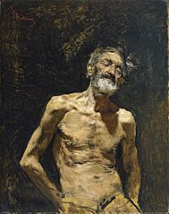 Nude Old Man in the Sun