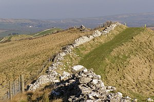 English: View along the Ridge, Tyneham Cap Thi...