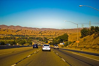 Interstate 680 (California) - Descending from Mission Pass northbound