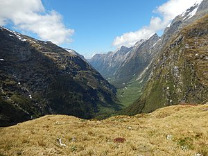 Fiordland - ...and U-shaped valleys carved by glaciers