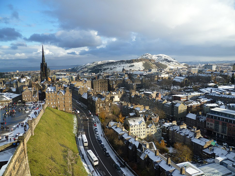 View of Edinburgh from the Palace block of Edinburgh Castle
