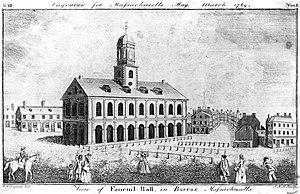 Peter Faneuil - Faneuil Hall in 1789