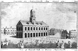 Faneuil Hall - Faneuil Hall in 1789