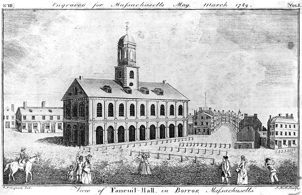View of Faneuil-Hall in Boston, Massachusetts, March 1789