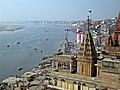 View of Ghats across the Ganges, Varanasi.jpg