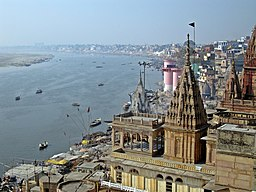 View of Ghats across the Ganges, Varanasi.jpg